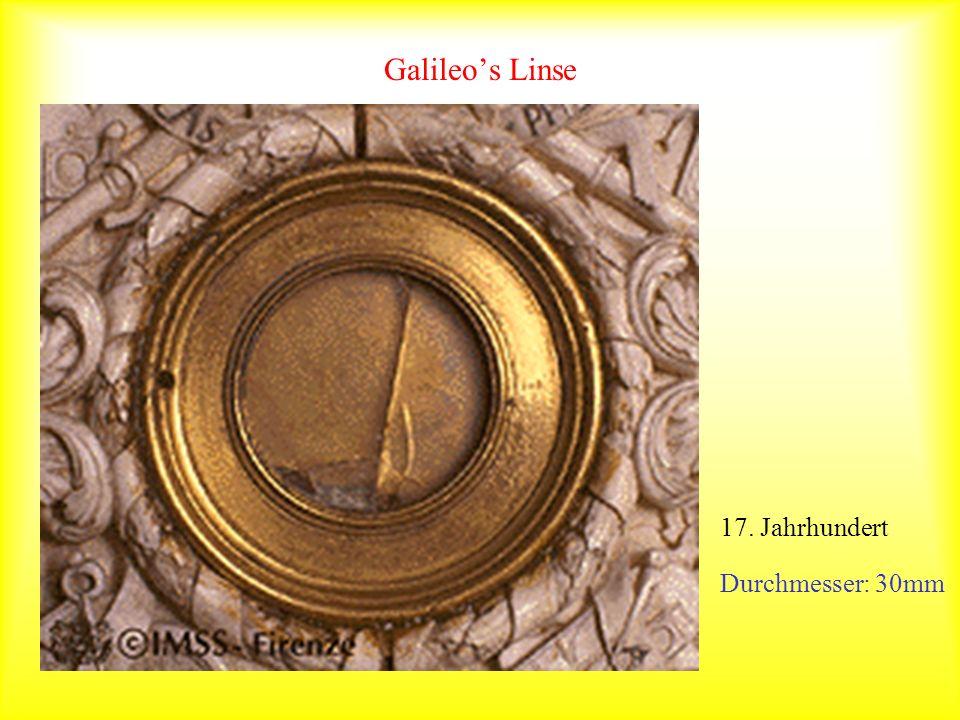Galileo's Linse 17. Jahrhundert Durchmesser: 30mm