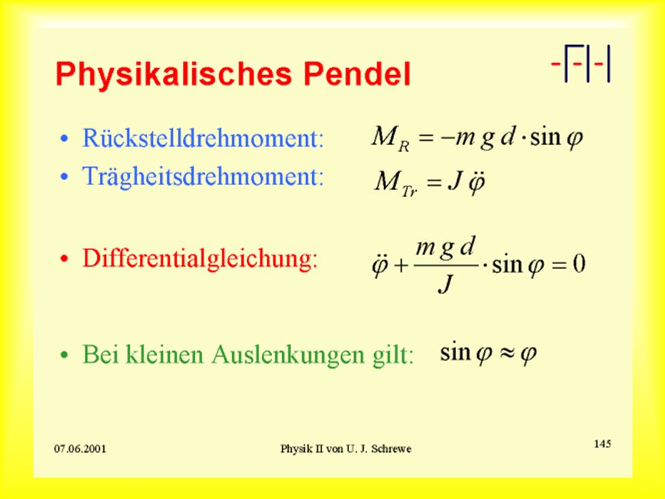 Physicalisches Pendel