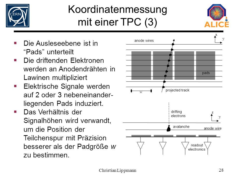 Koordinatenmessung mit einer TPC (3)