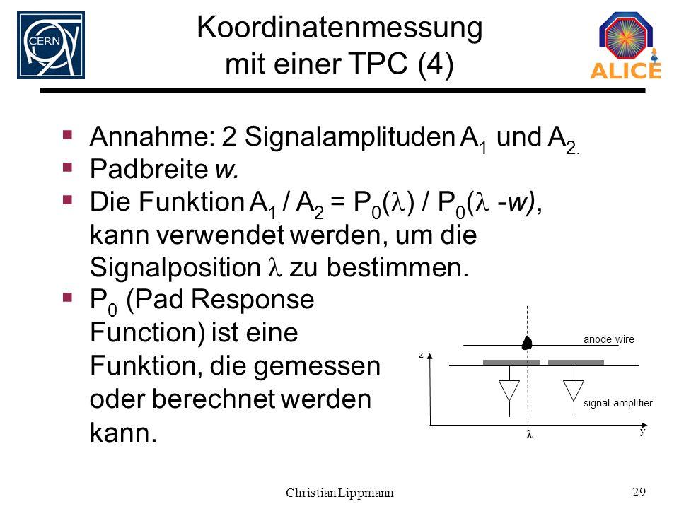 Koordinatenmessung mit einer TPC (4)