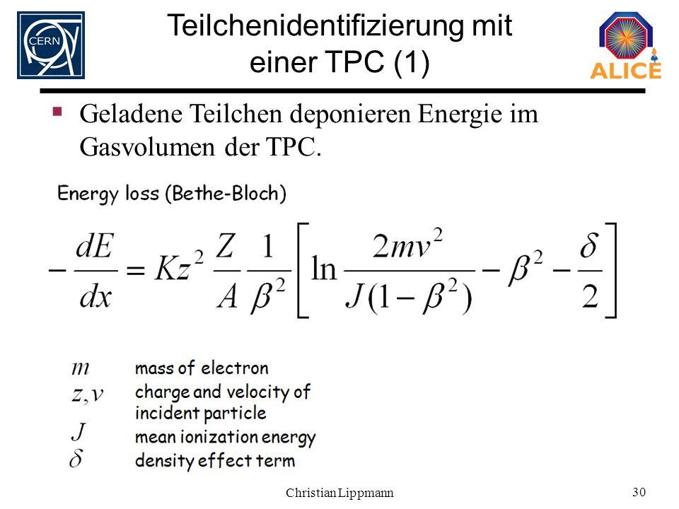 Teilchenidentifizierung mit einer TPC (1)