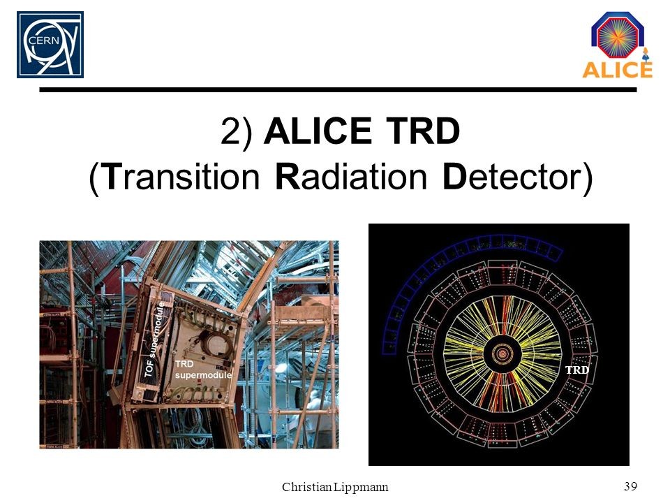 2) ALICE TRD (Transition Radiation Detector)