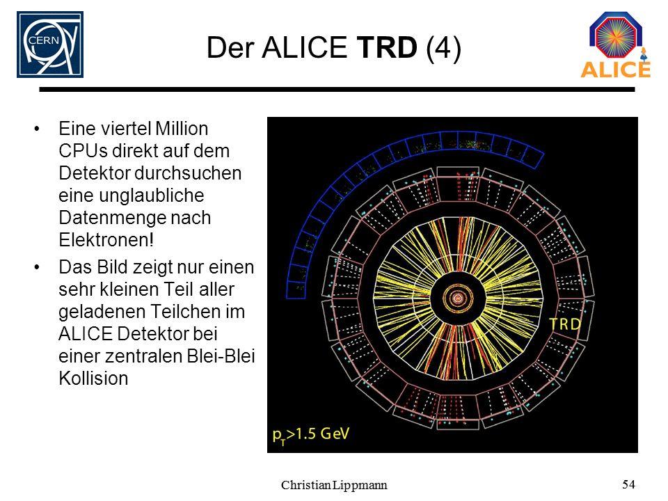 Der ALICE TRD (4) Eine viertel Million CPUs direkt auf dem Detektor durchsuchen eine unglaubliche Datenmenge nach Elektronen!
