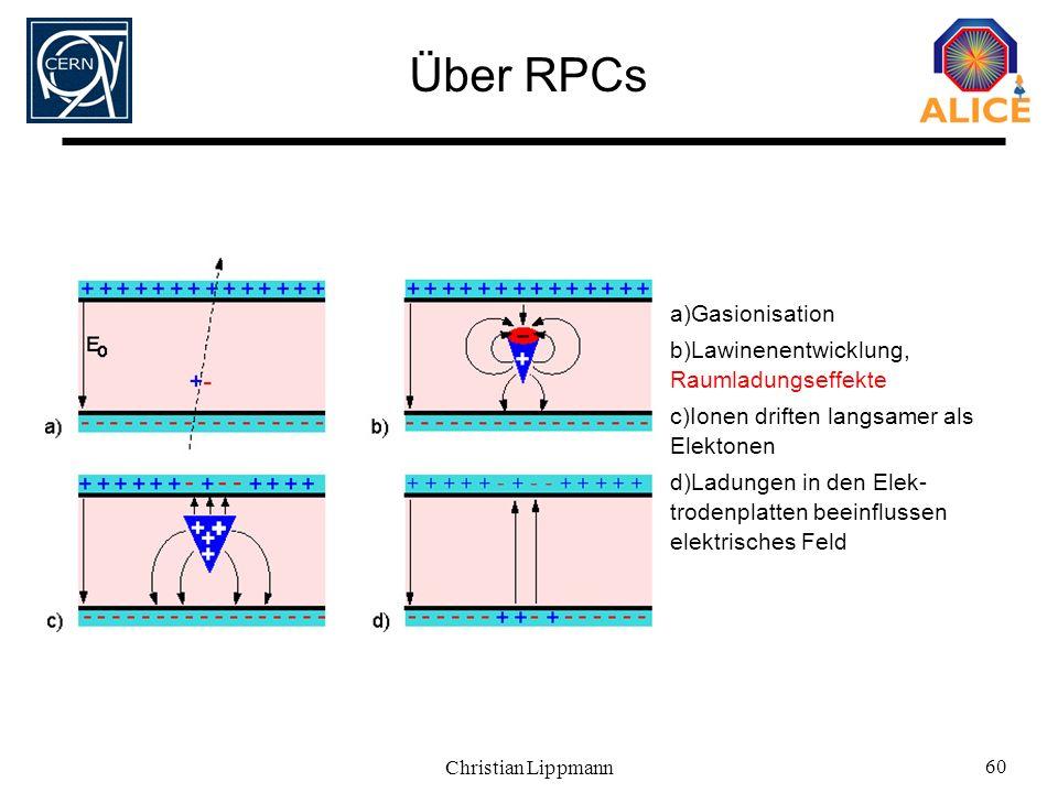 Über RPCs Gasionisation Lawinenentwicklung, Raumladungseffekte