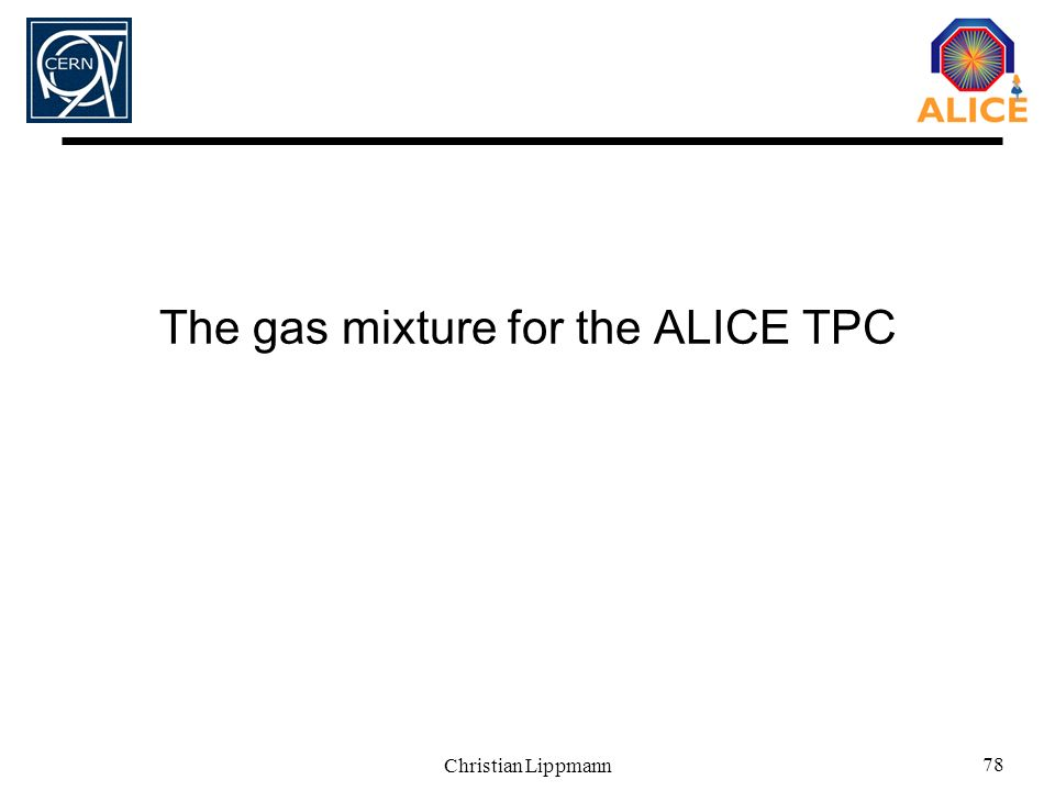 The gas mixture for the ALICE TPC