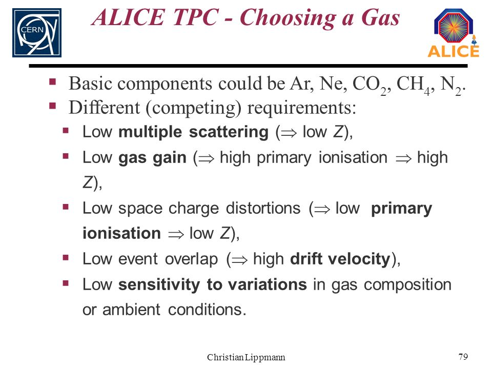 ALICE TPC - Choosing a Gas