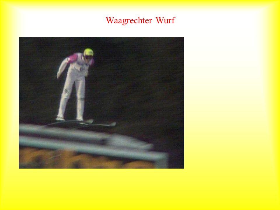 Waagrechter Wurf