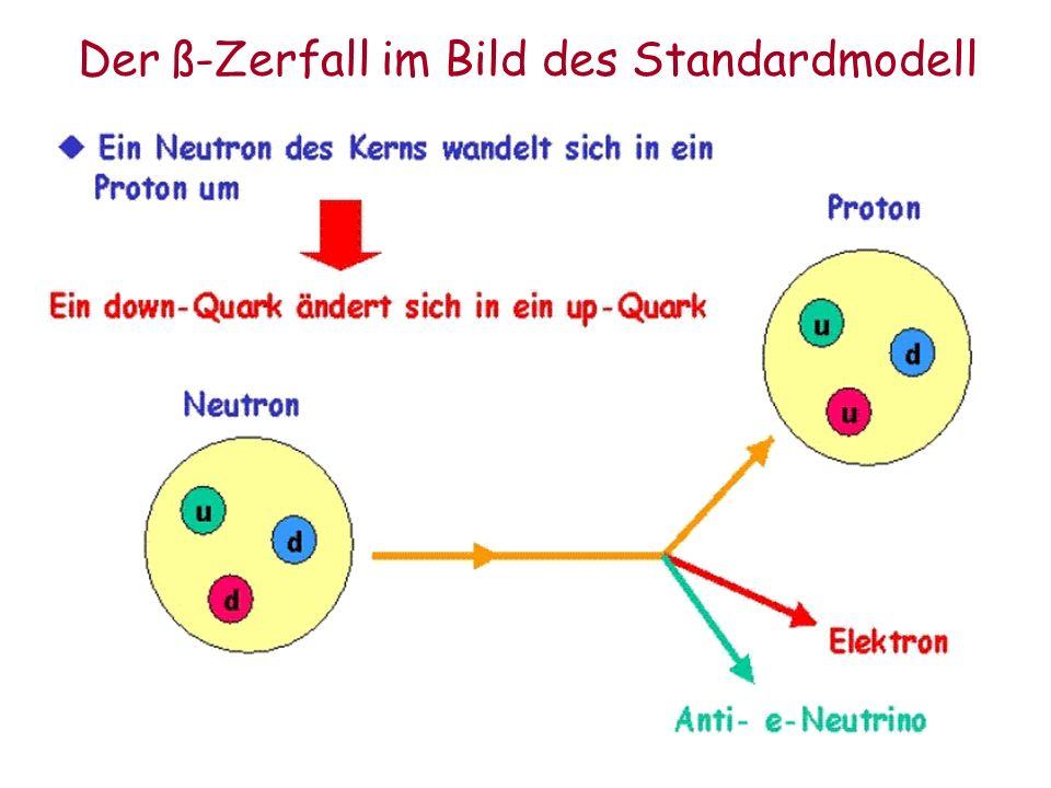Der ß-Zerfall im Bild des Standardmodell