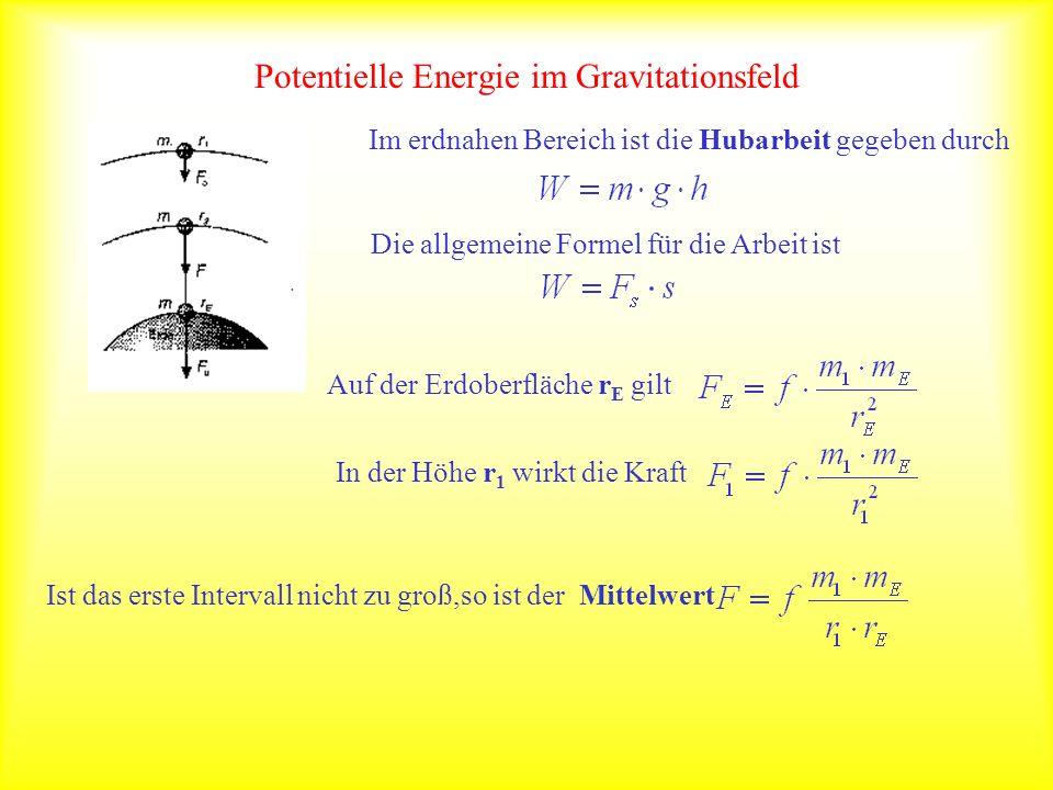 Potentielle Energie im Gravitationsfeld