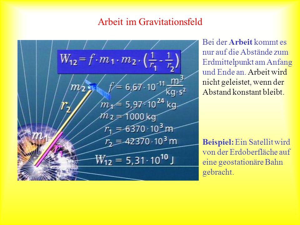 Arbeit im Gravitationsfeld