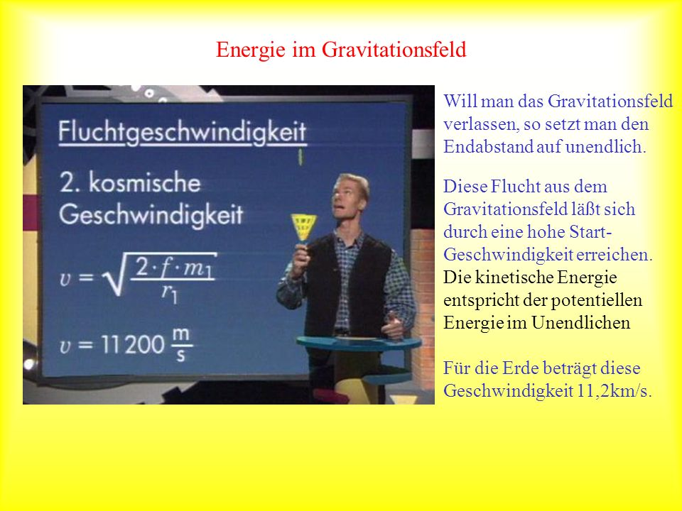 Energie im Gravitationsfeld