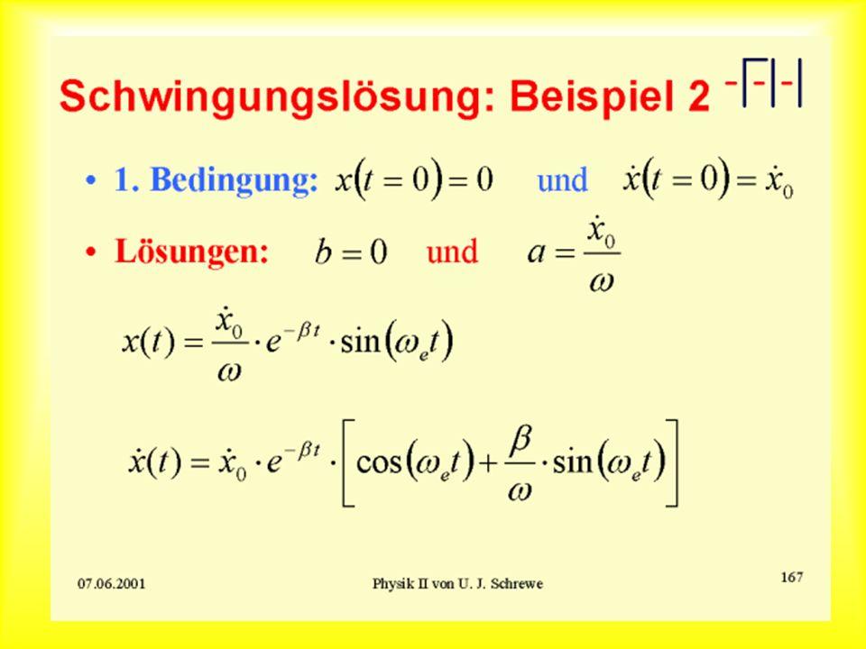 Schwingungslösung: Beispiel 2
