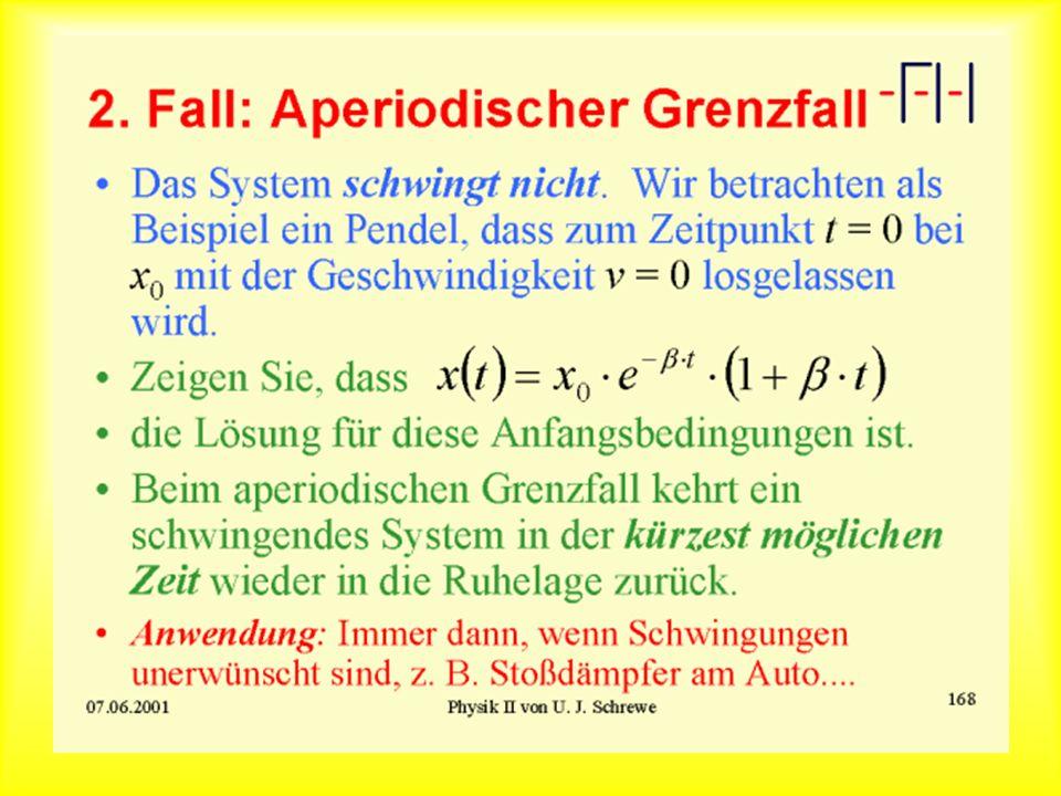 2. Fall: Aperiodischer Grenzfall