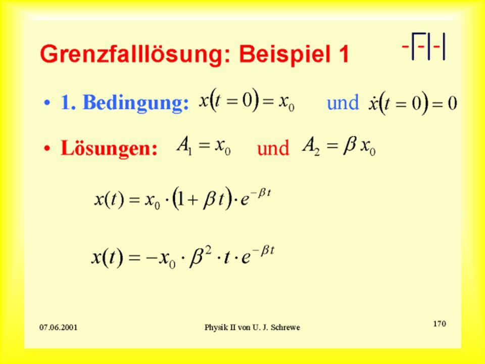 Grenzfallösung: Beispiel 1