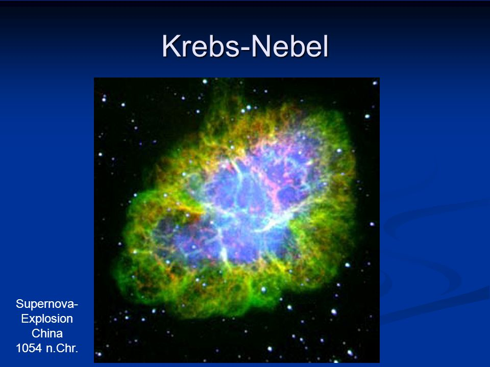 Supernova-Explosion China 1054 n.Chr.