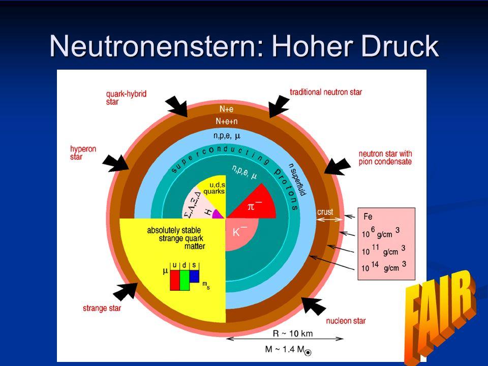 Neutronenstern: Hoher Druck