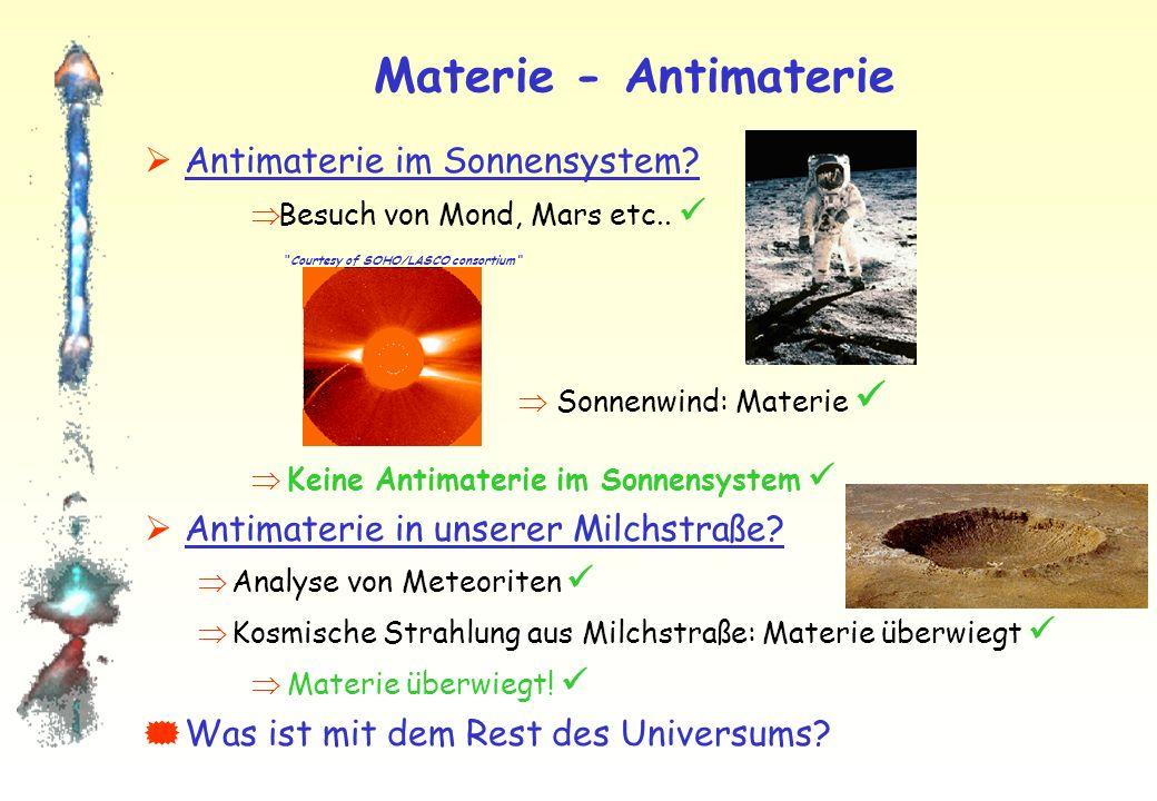 Materie - Antimaterie Antimaterie im Sonnensystem