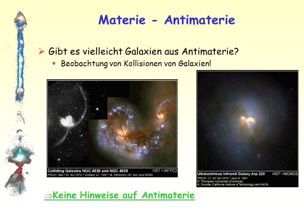 Materie - Antimaterie Gibt es vielleicht Galaxien aus Antimaterie