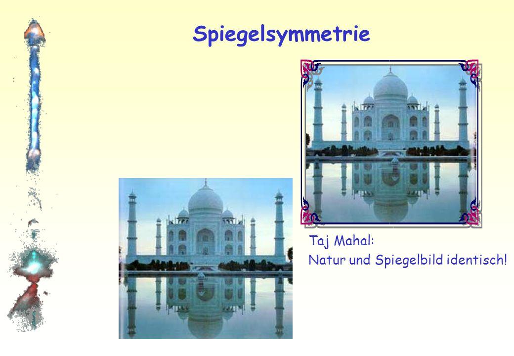 Spiegelsymmetrie Taj Mahal: Natur und Spiegelbild identisch!