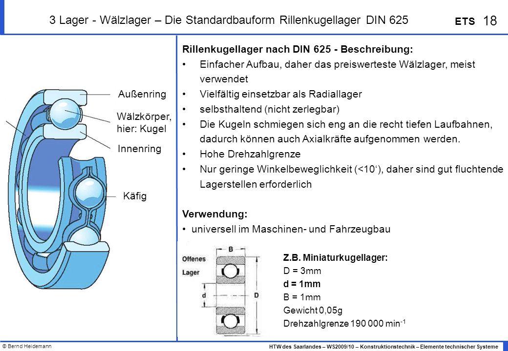 3 Lager - Wälzlager – Die Standardbauform Rillenkugellager DIN 625