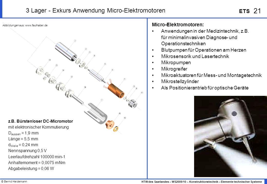 3 Lager - Exkurs Anwendung Micro-Elektromotoren