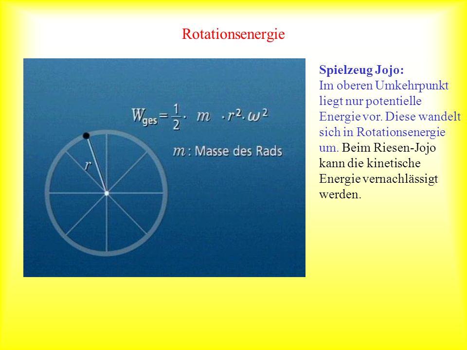 Rotationsenergie Spielzeug Jojo: