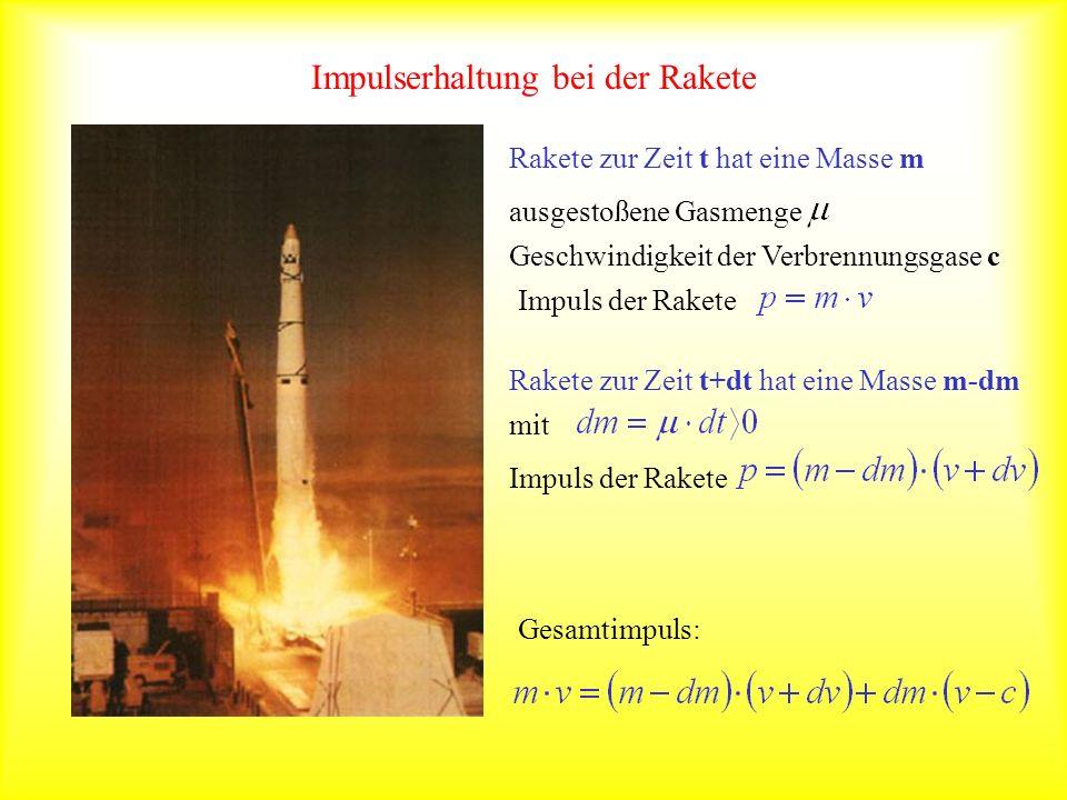Impulserhaltung bei der Rakete