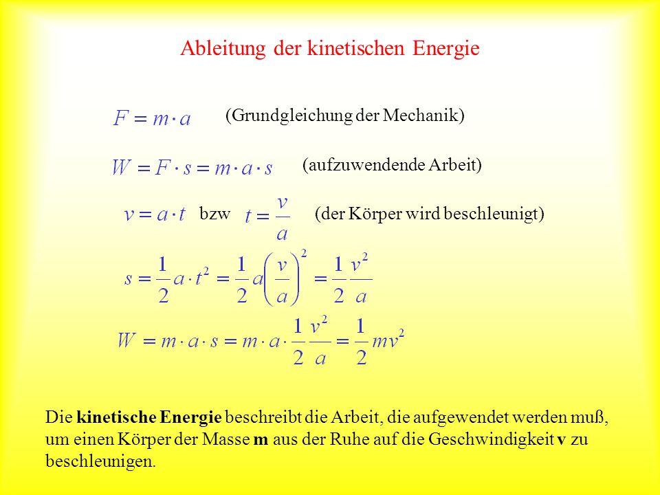 Ableitung der kinetischen Energie