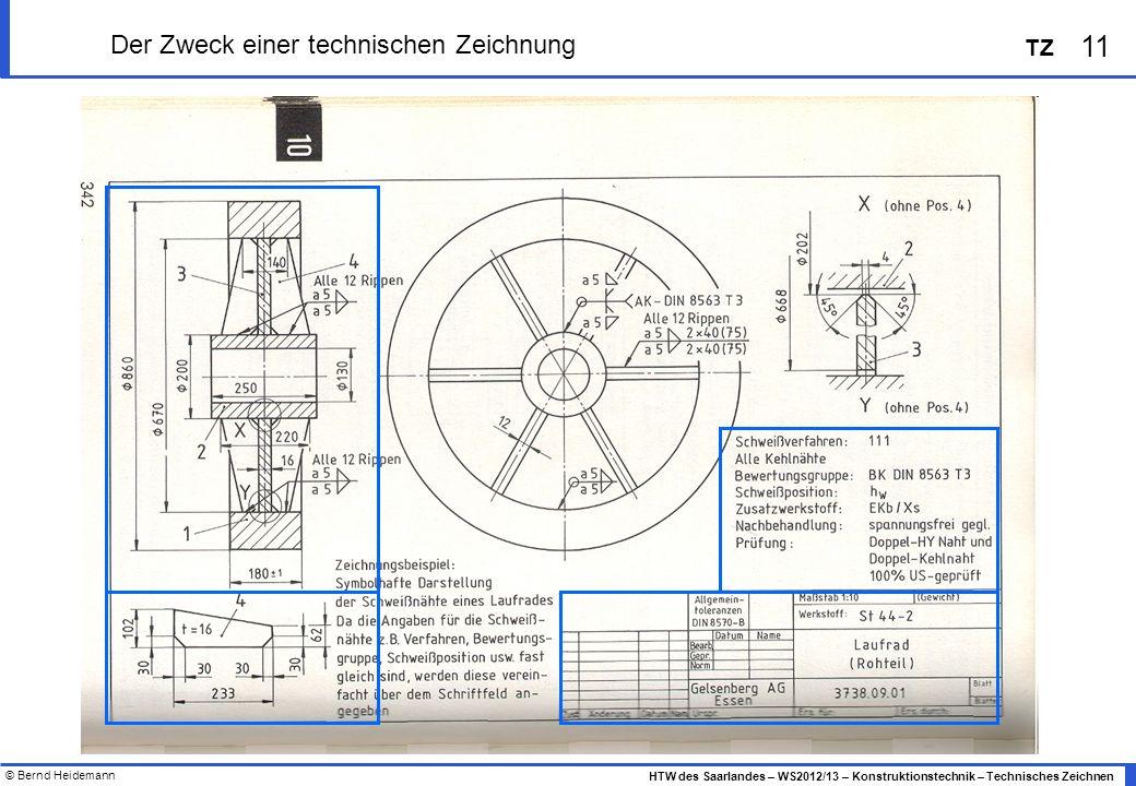 Der Zweck einer technischen Zeichnung