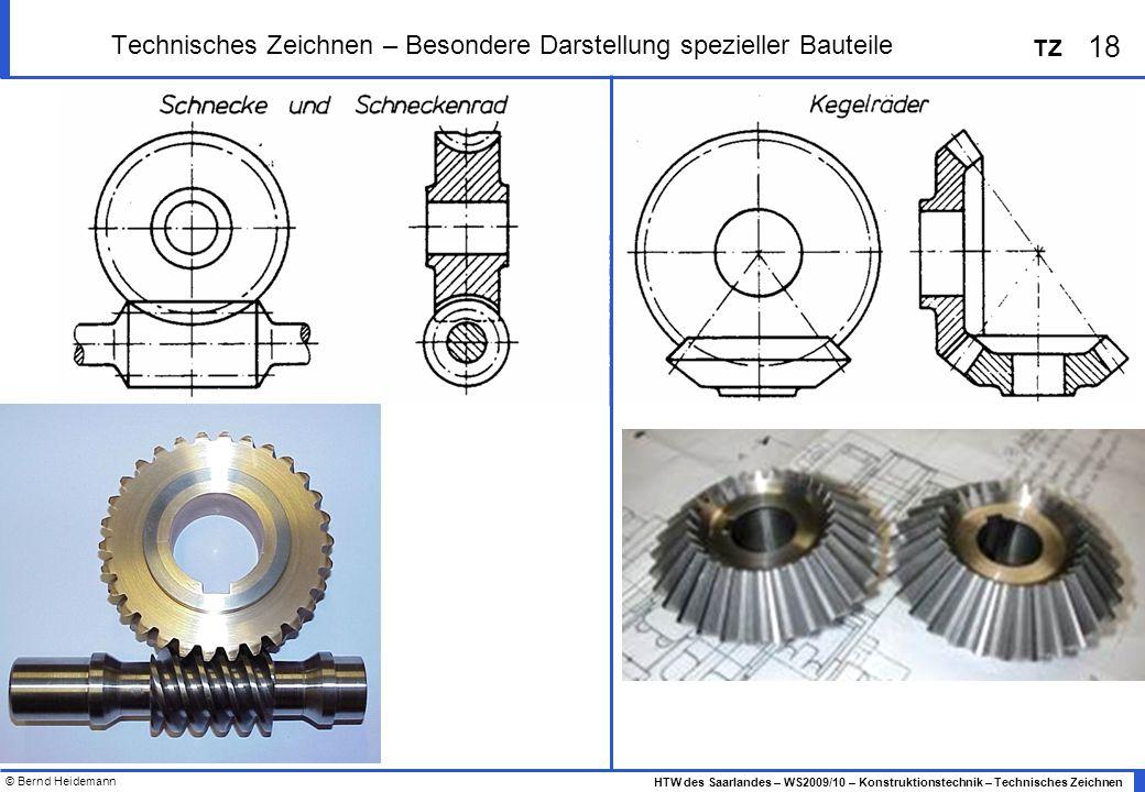 Technisches Zeichnen – Besondere Darstellung spezieller Bauteile