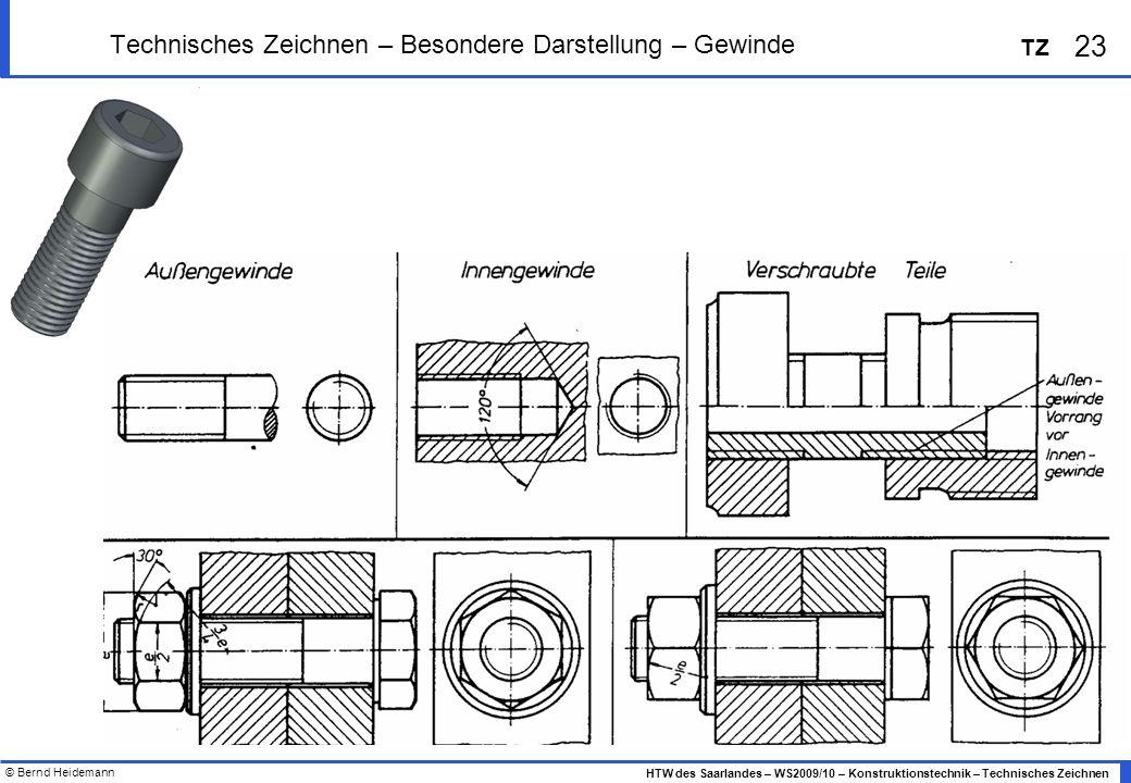 Technisches Zeichnen – Besondere Darstellung – Gewinde