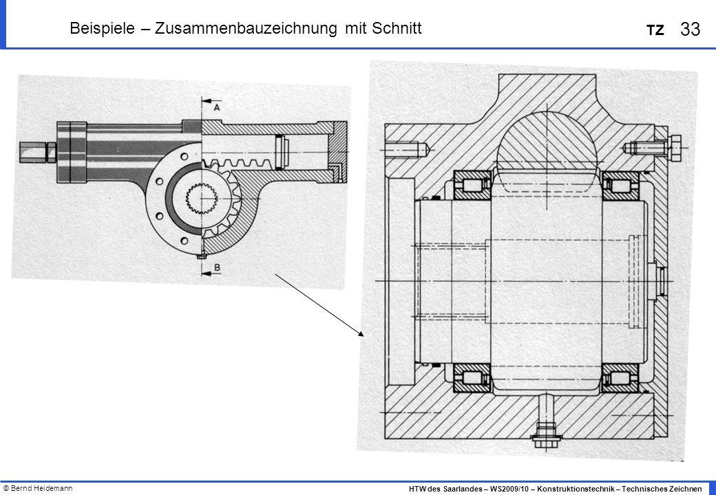 Beispiele – Zusammenbauzeichnung mit Schnitt