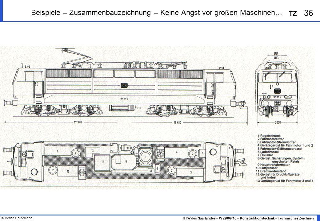 Beispiele – Zusammenbauzeichnung – Keine Angst vor großen Maschinen…
