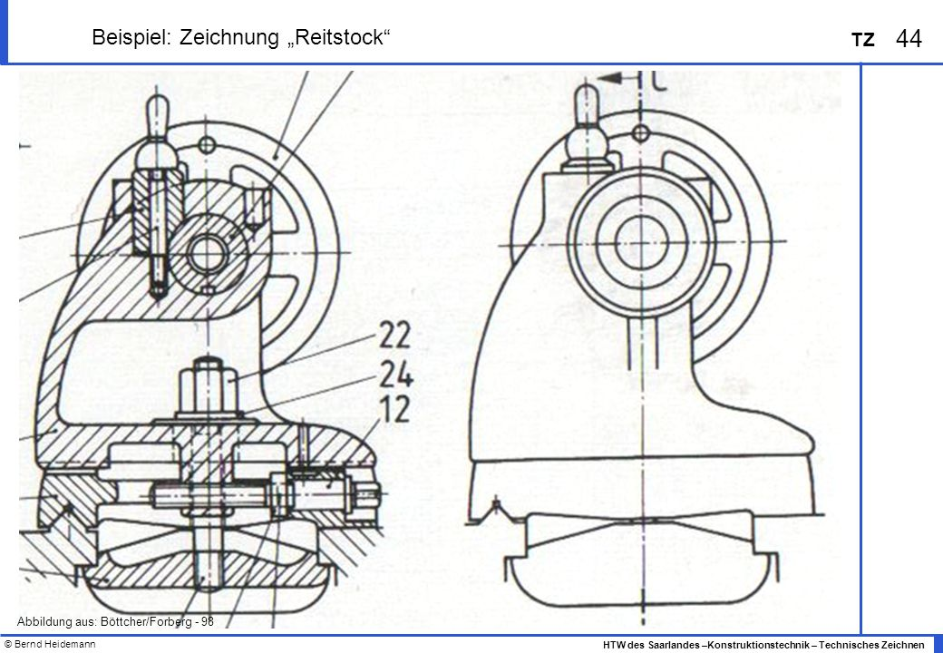 """Beispiel: Zeichnung """"Reitstock"""