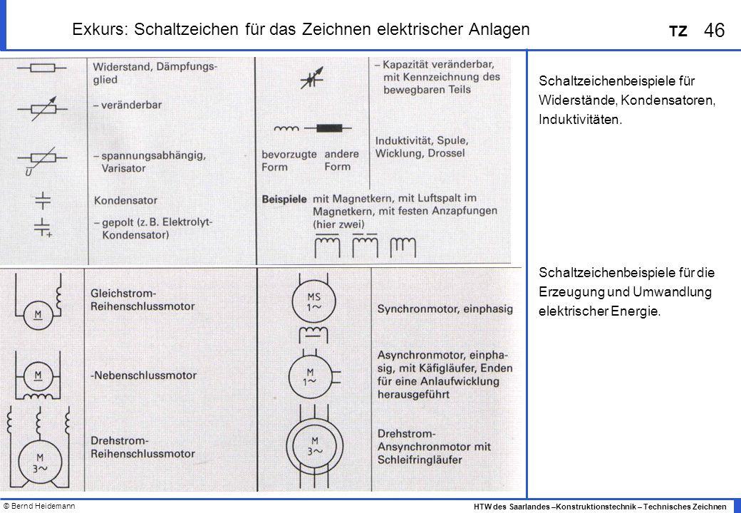 Exkurs: Schaltzeichen für das Zeichnen elektrischer Anlagen