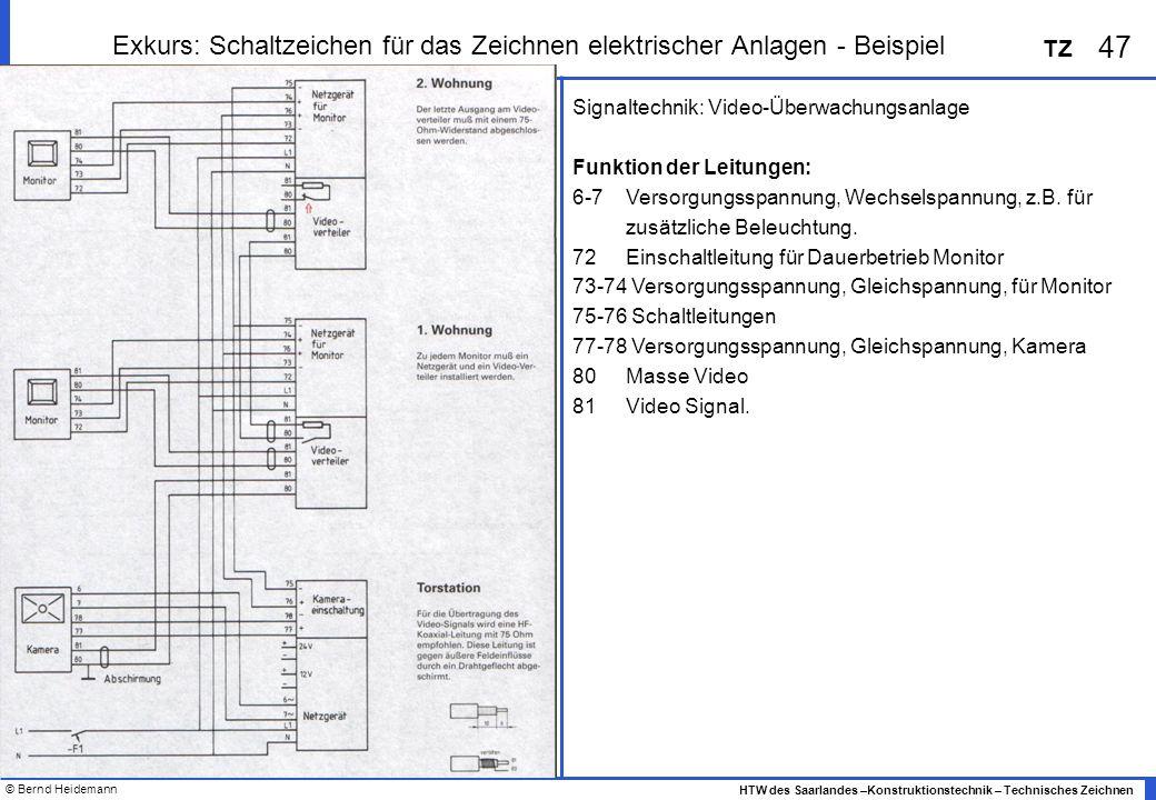 Exkurs: Schaltzeichen für das Zeichnen elektrischer Anlagen - Beispiel