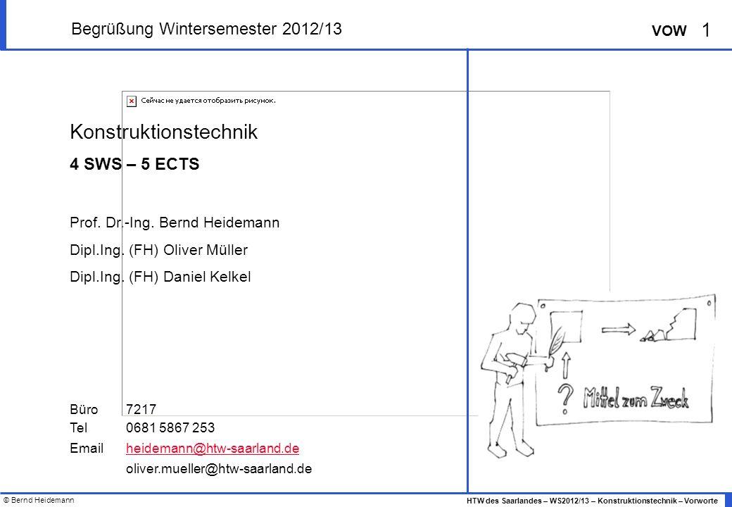 Begrüßung Wintersemester 2012/13