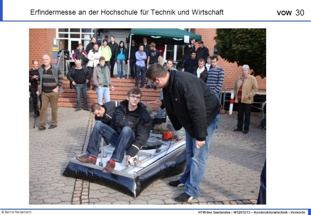 Erfindermesse an der Hochschule für Technik und Wirtschaft
