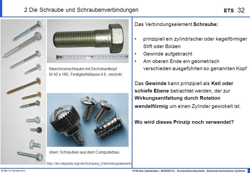 2 Die Schraube und Schraubenverbindungen