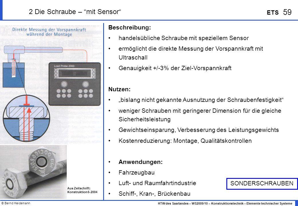 2 Die Schraube – mit Sensor