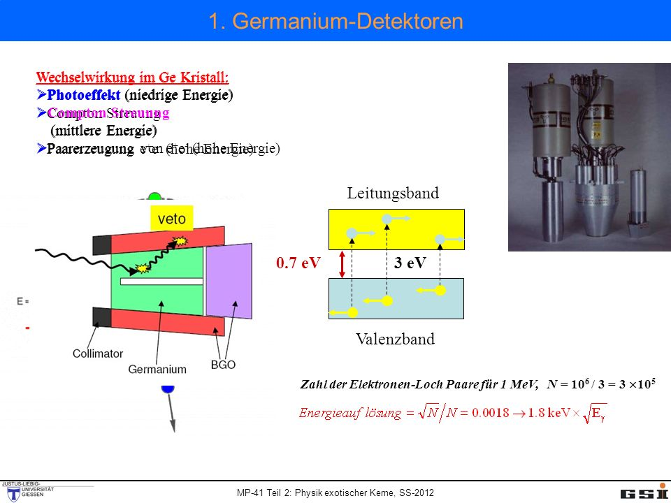 1. Germanium-Detektoren