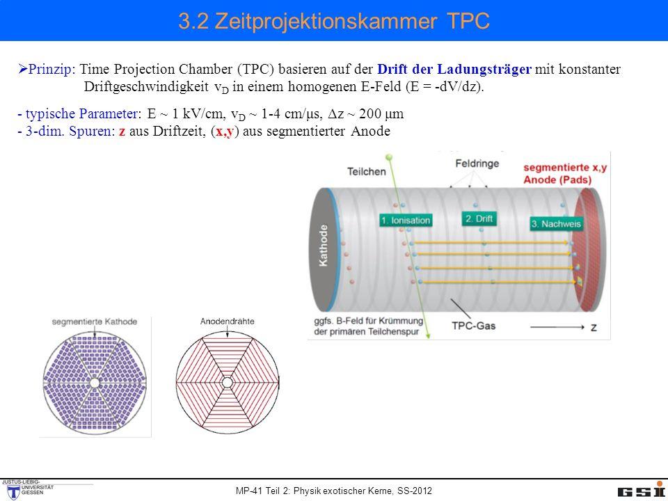 3.2 Zeitprojektionskammer TPC