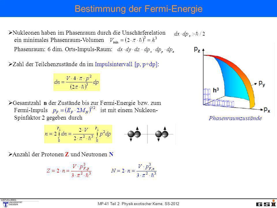 Bestimmung der Fermi-Energie
