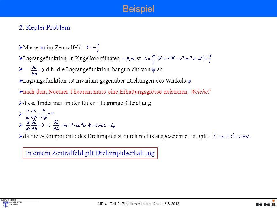 Beispiel 2. Kepler Problem