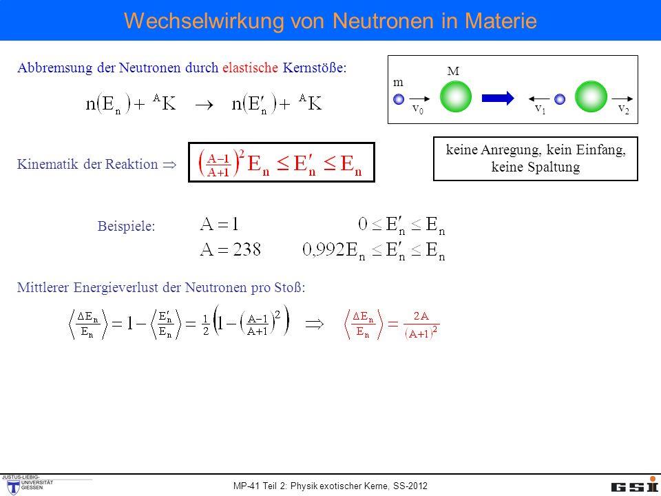 Wechselwirkung von Neutronen in Materie