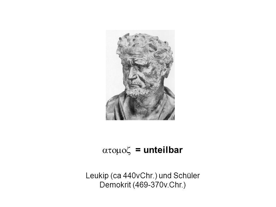 Leukip (ca 440vChr.) und Schüler Demokrit (469-370v.Chr.)