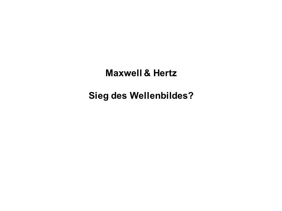 Maxwell & Hertz Sieg des Wellenbildes