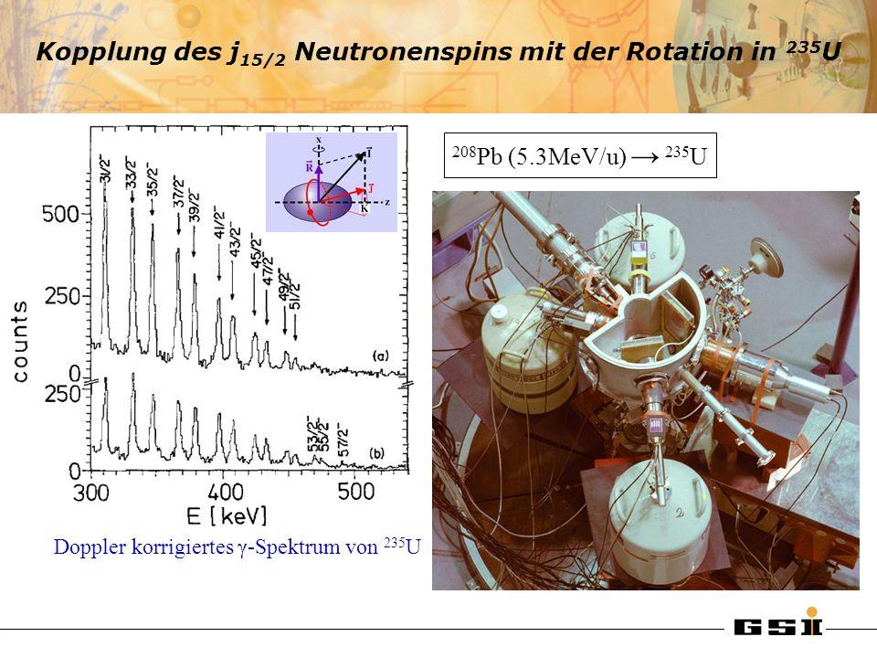 Kopplung des j15/2 Neutronenspins mit der Rotation in 235U