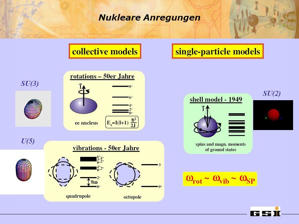 Nukleare Anregungen SU(3) SU(2) U(5)