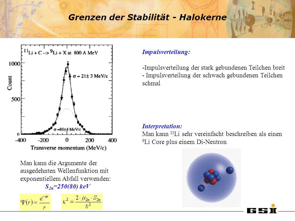 Grenzen der Stabilität - Halokerne